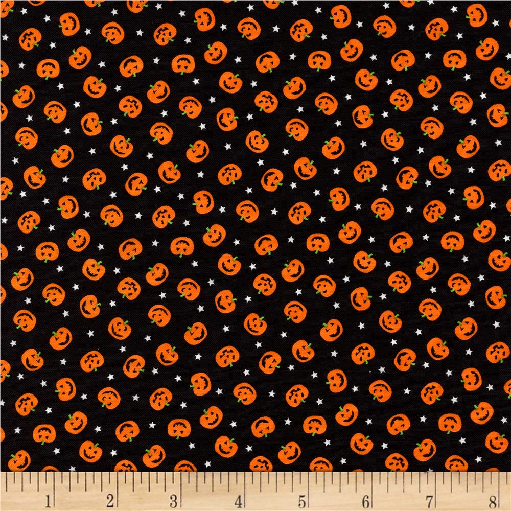 Timeless Treasures Halloween Minis Pumpkins Black