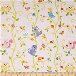 Happi Animal Tree Pink Fabric