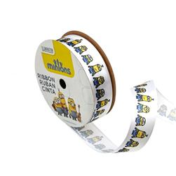 "7/8"" Minions Ribbon 2D White"