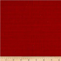 Local Color Yarn Dyed Flannels Mini Woven Red