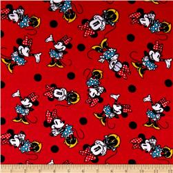 Disney Minnie Rock The Dots Flannel Minnie Prissy Red