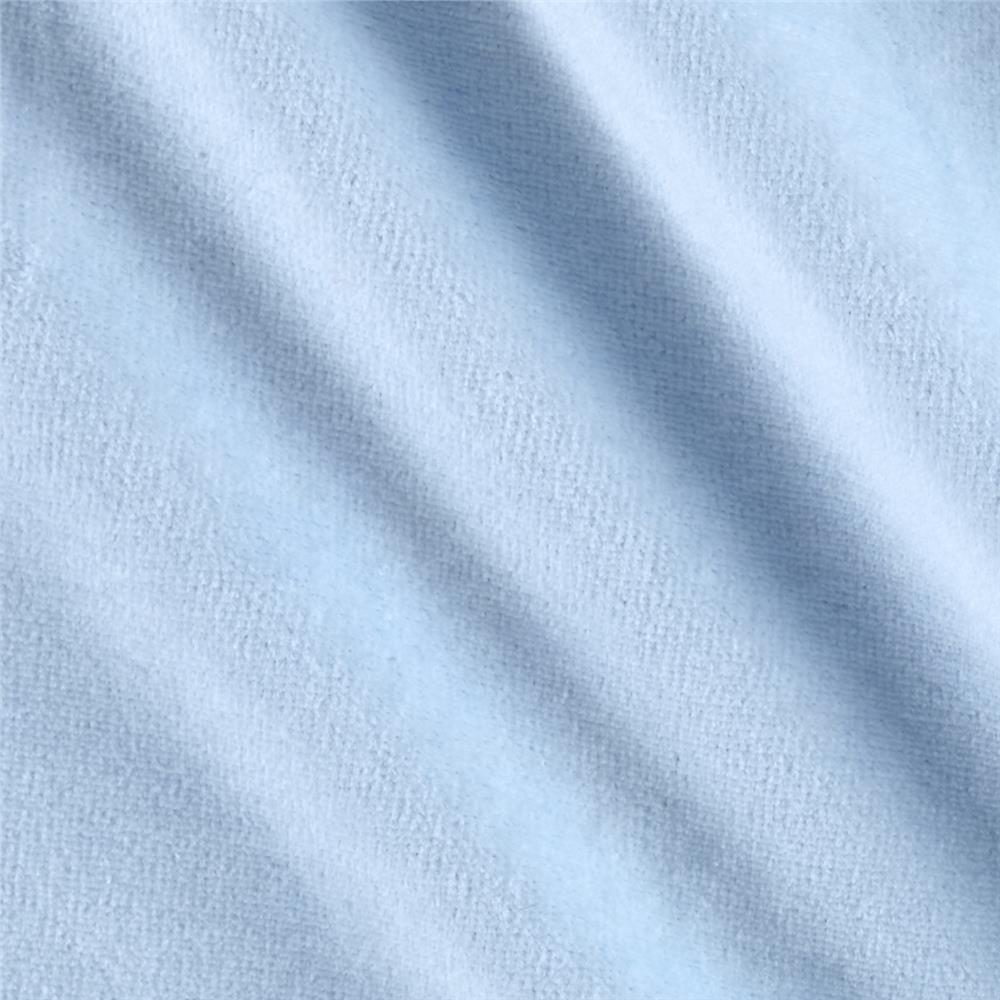 Solid Velour Sky Fabric