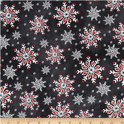 Chalkboard Christmas Snow Flakes Multi