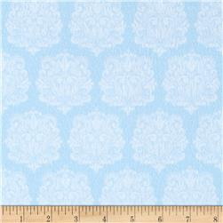 Precious Baby Flannel Damask Blue
