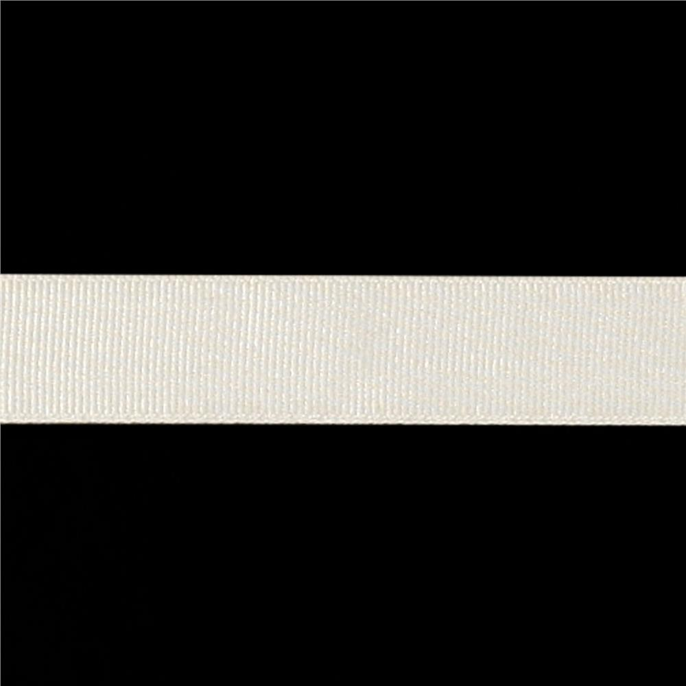"May Arts 3/4"" Grosgrain Ribbon Spool Ivory"