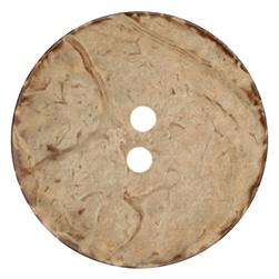 Genuine Coconut Button 1 3/4'' Brown