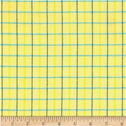 Marcus Primo Plaids Color Crush Flannel Small Plaid Yellow