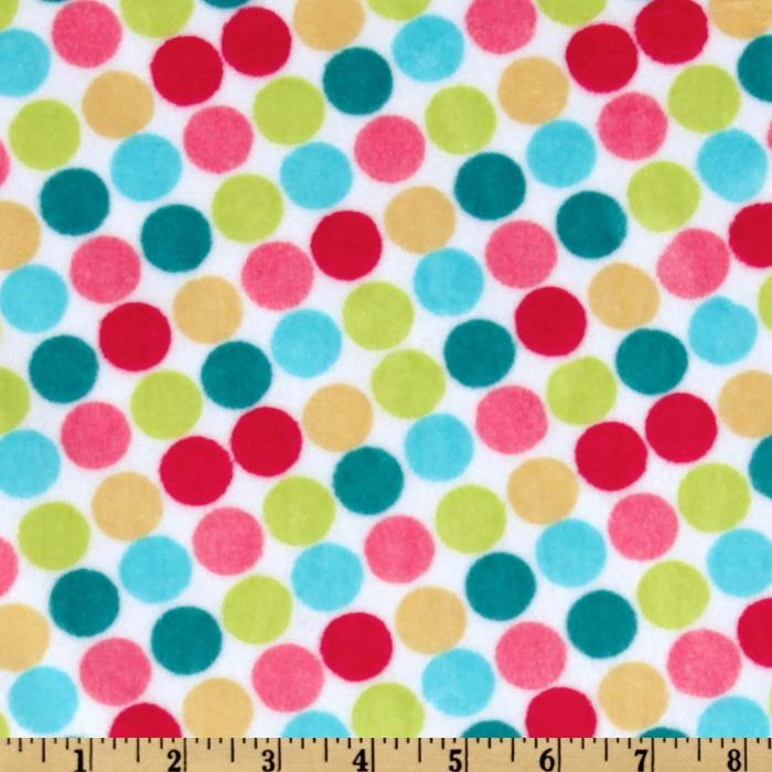 Minky Funky Monkey Cuddle Retro Dot White/Yellow
