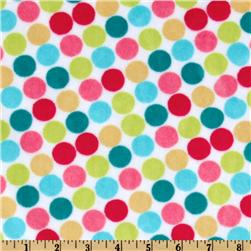 Minky Funky Monkey Cuddle Retro Dot White/Yellow Fabric