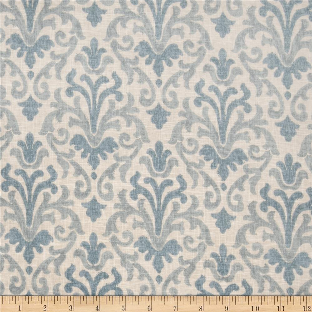 Jaclyn Smith Modern Damask Blend Lagoon