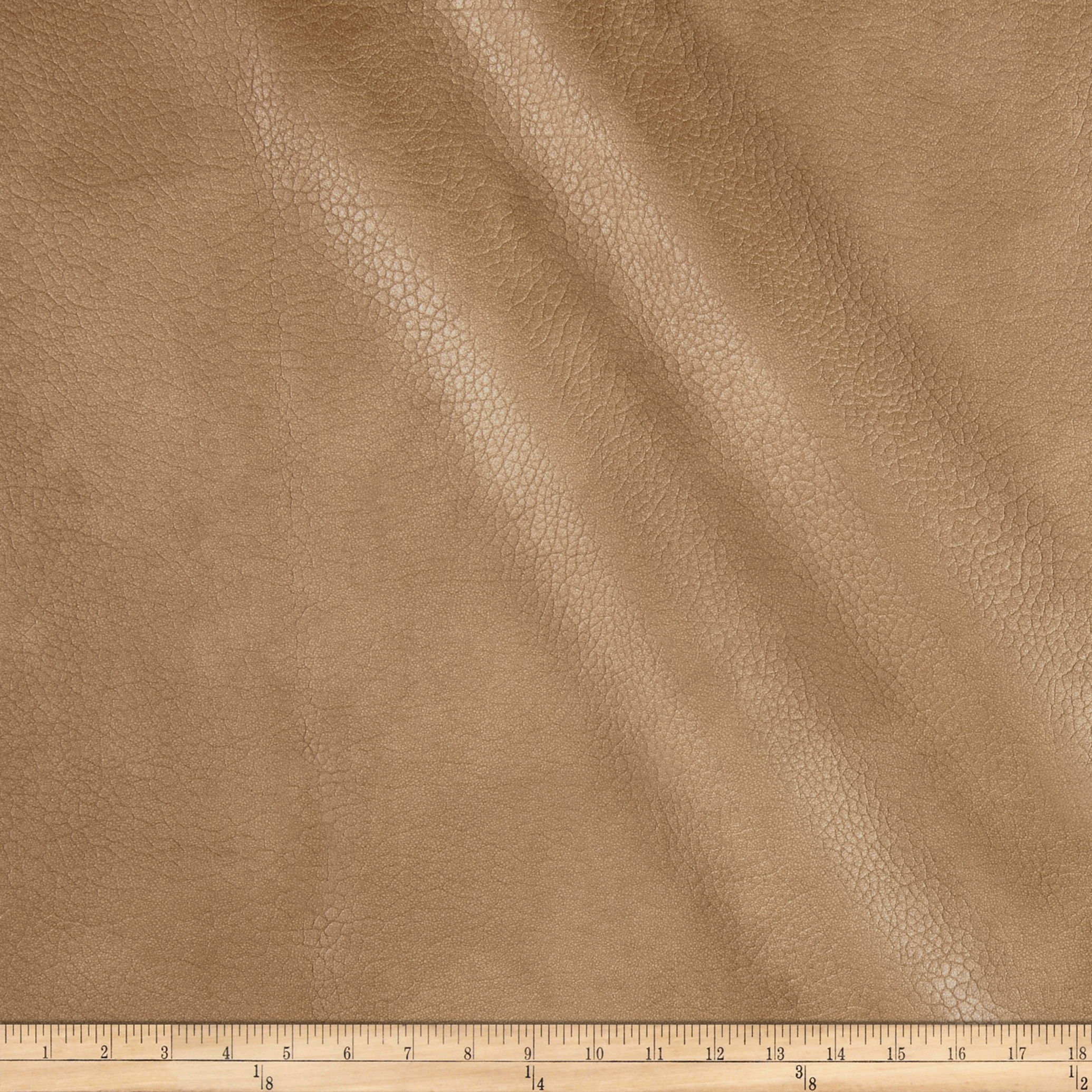 Richloom Tough Faux Leather Lattimer Tobacco Fabric by TNT in USA