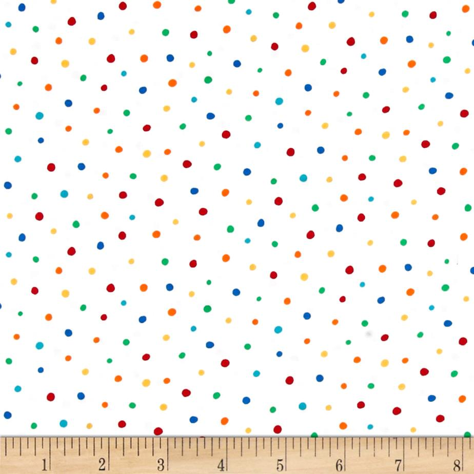 Michael miller creepy crawlies dot frolic white discount for Fabric purchase