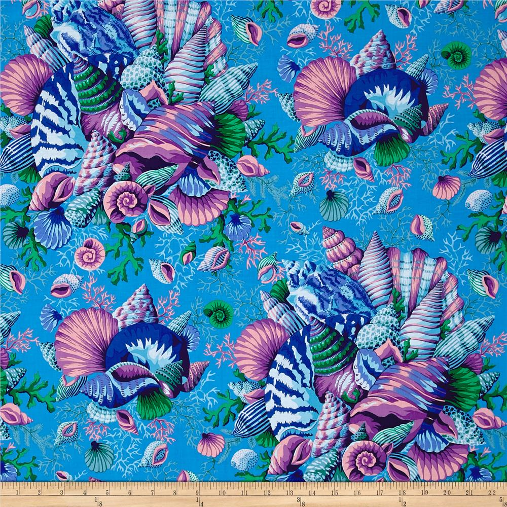 Philip jacobs spring 2017 shell bouquet blue discount for Modern fabrics textiles