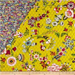 Alexander Henry Double Sided Quilted Bella Strada Speranza Chartreuse