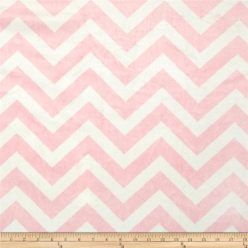 Minky Chevron Cuddle Blush/White