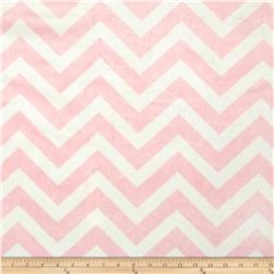 Minky Cuddle Chevron Blush/White