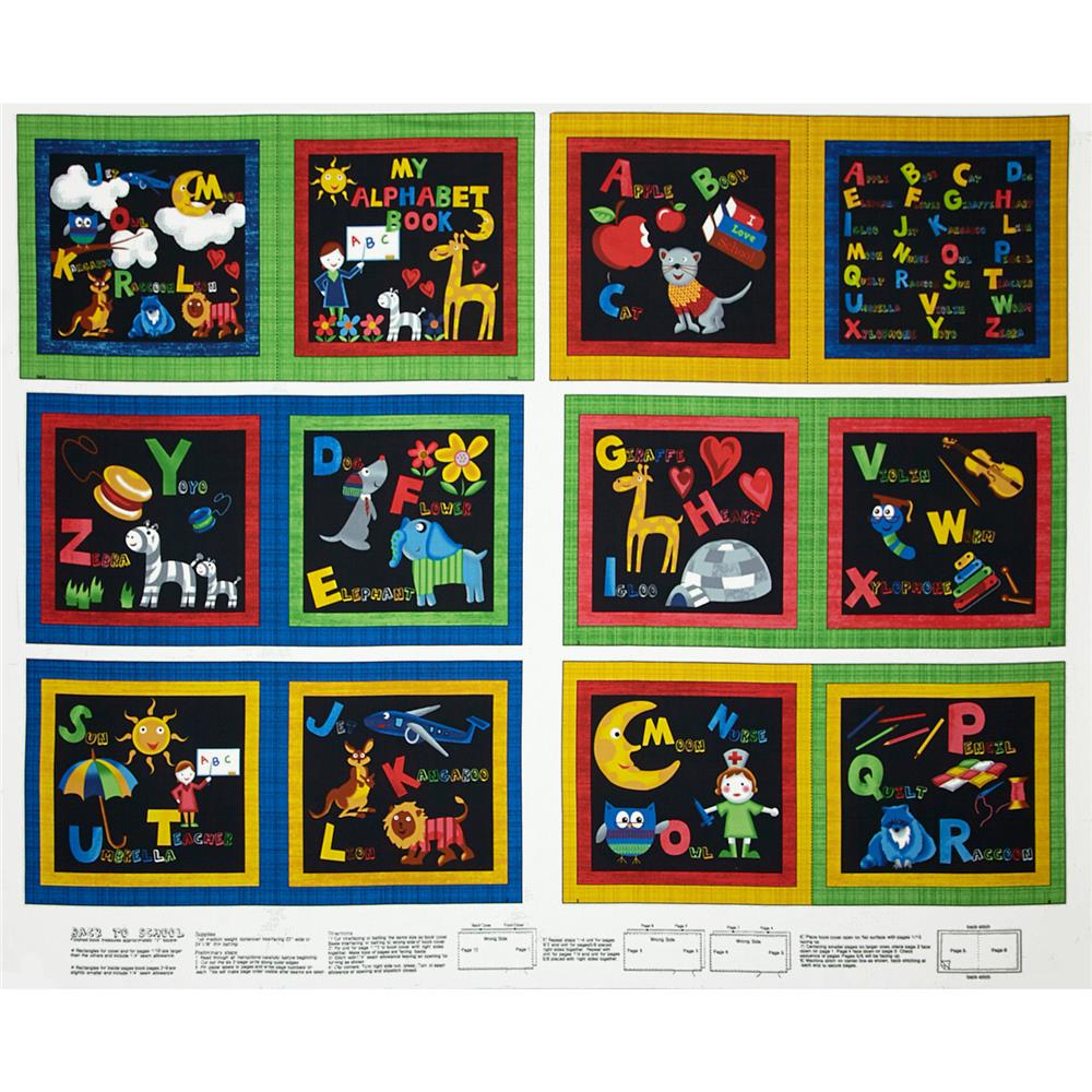 Back to School 36 X 44 In. Book Panel Multi