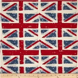 Premier Prints Union Jack Macon Premier Navy Fabric
