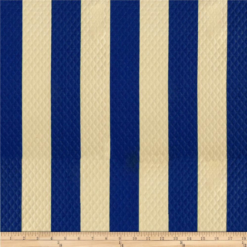 Waverly Sun N Shade Quilted Solstice Stripe Marine