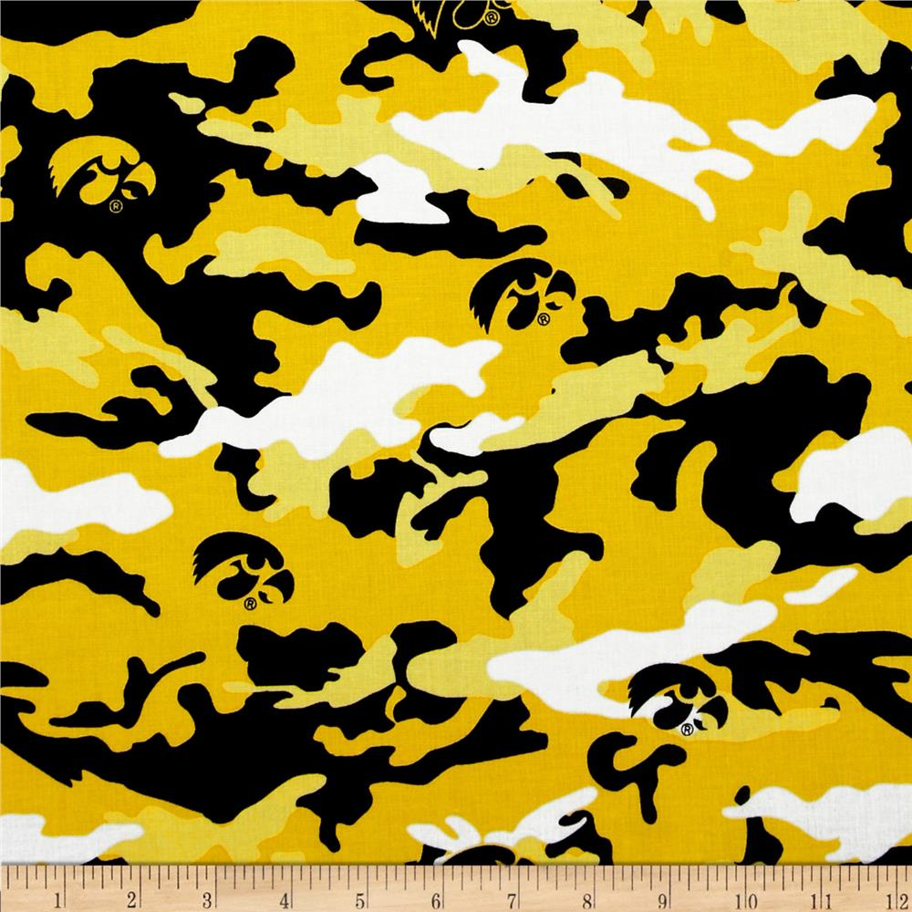University of Iowa Cotton Camouflage Yellow/Black - Discount ...