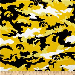 University of Iowa Cotton Camouflage Yellow/Black