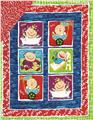 Baby Blocks Double-Sided Quilted Panel Red/Blue
