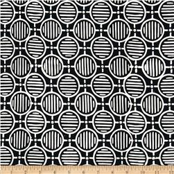 Artisan Batiks Geo Scapes Circle Plaid Black