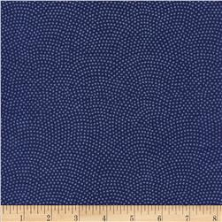 Timeless Treasures Dreaming in Pearle Dots Cobalt