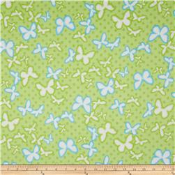 Comfy Flannel Butterflies Green