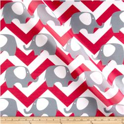 RCA Elephant Chevron Sheers Grey/Hot Pink