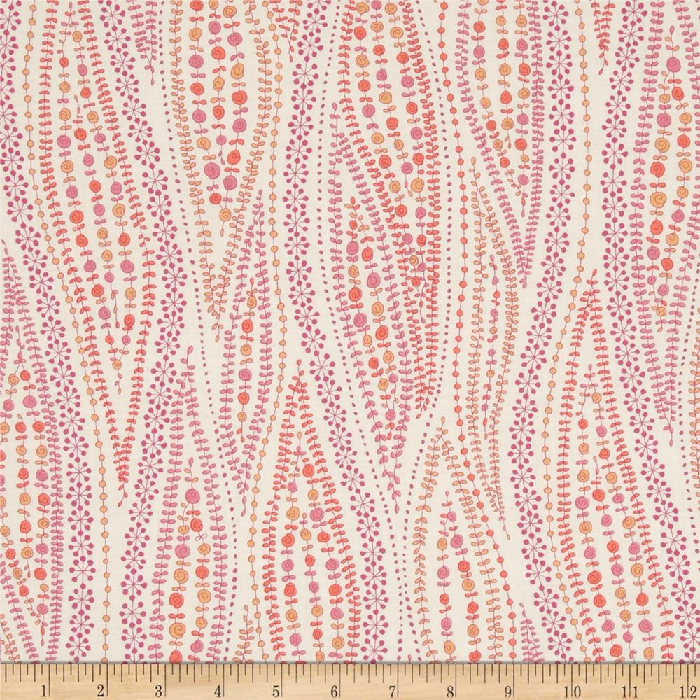 Kaufman London Calling Lawn Abstract Stripe Pink