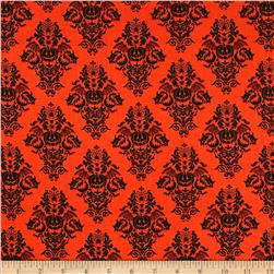 Black Magic Damask Orange