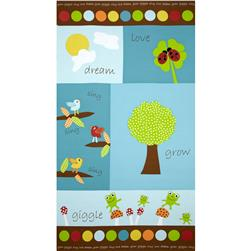 Giggle & Grow Panel Blue Fabric