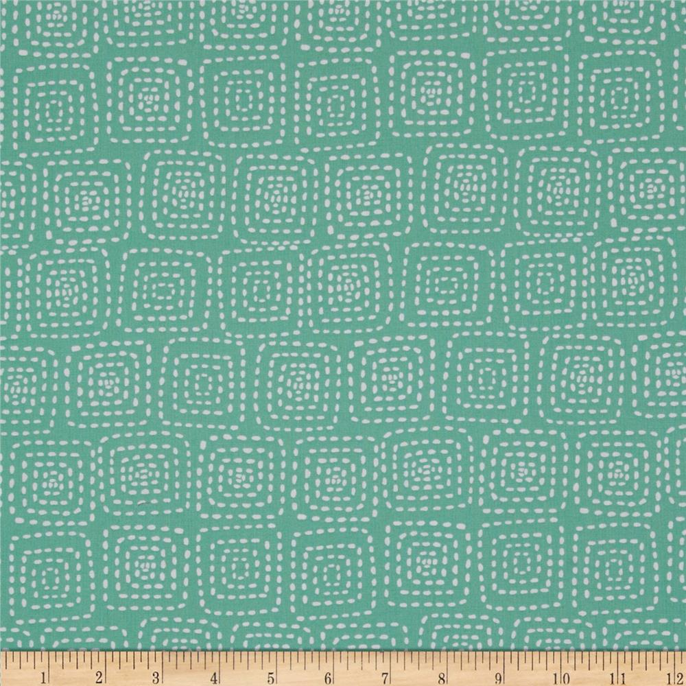 Michael Miller Stitch Square Mint