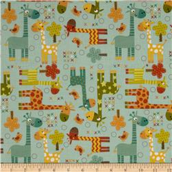 Riley Blake Giraffe Crossing Giraffe Main Teal