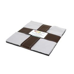 Robert Kaufman Kona Solids Gray Area 10 In. Layer Cake