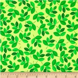 Michael Miller Retro Leaf Green