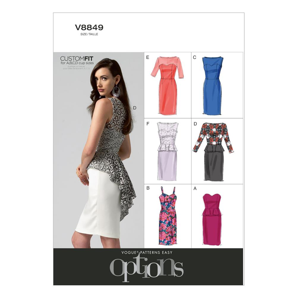 Vogue Misses'/Misses' Petite Dress Pattern V8849 Size A50