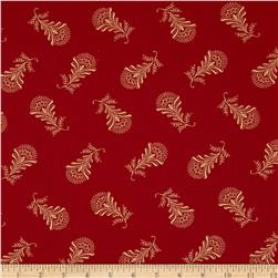 Moda Collection for a Cause Mill Book Paisley Feather Madder Red