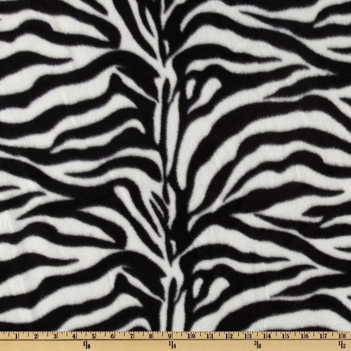 WinterFleece Black/White Zebra Fabric