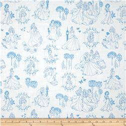 Disney Princess Toile Blue
