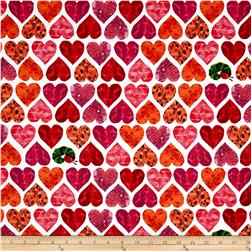 The Very Hungry Caterpillar I Love You Large Hearts Red