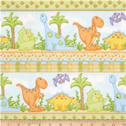 The Land Before Time Flannel Novelty Stripe Blue