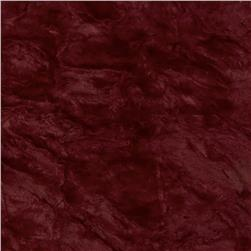 Crushed Matte Faux Fur Wine