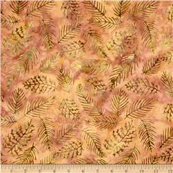 Island Batik Sweet Georgia Peach Leaf Vein Lt Brwn/Green