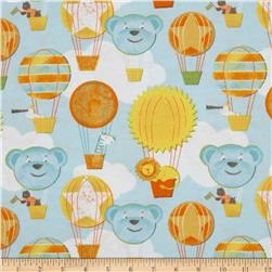 Adventure Land Flannel Hot Air Balloons Sky Fabric