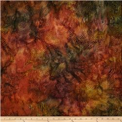 108'' Wide Tonga Batik Quilt Backing Dotty Spiral Autumn