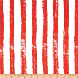 Michael Miller Picket Fence Stripe Red