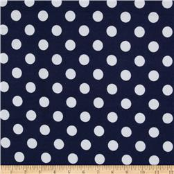 Riley Blake Medium Dots Flannel Navy