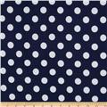 Riley Blake Flannel Basics Dots Medium Navy